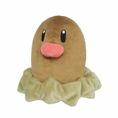 New Sanei Pokemon Go All Star Collection PP36 Diglett Stuffed Plush Doll