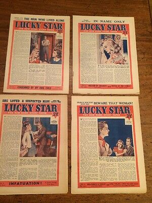Four Vintage Silver Star 1946 Magazines