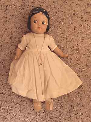 Vintage Composition Doll with necklace