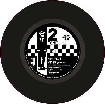 "Ska Two Tone Printed Exterior Vinyl 7"" 178mm Decals The Specials Ghost Town x 2"
