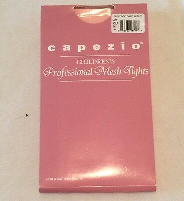 Capezio Childrens Pink Professional Mesh Transitional Tights w/Slit Size M CLP