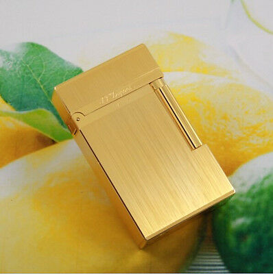 NEW HOT S.T Memorial Golden Wire drawing lighter Bright Sound ! Free Shipping