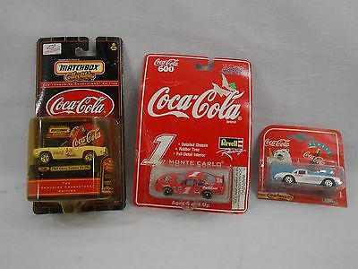 Coca-Cola Matchbox Cars Lot of 3 Collectibles Unopened