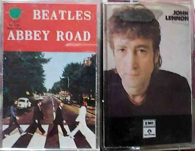2 MC BEATLES Abbey Road originale Apple + JOHN LENNON Collection greatest hits