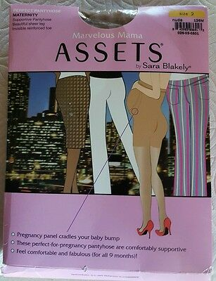 New Spanx Perfect Pantyhose Maternity Marvelous Mama Assets Size2  Nude