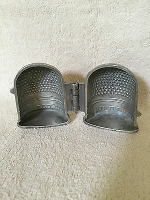 Pewter Ice Cream Mold Thimble S.&Co.