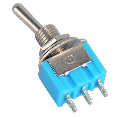 Miniature Toggle Switch 3 Pin ON/ /ON SPDT 6A 125VAC/3A 250VAC Mini Switches