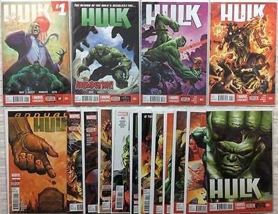 Hulk complete 2nd series #1 - #16 + Annual (Marvel 2014) Hi grade 1st prints.