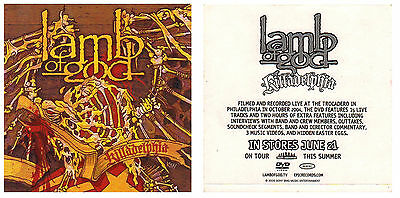 LAMB OF GOD Killadelphia Ltd Ed RARE Discontinued Sticker +FREE Metal Stickers!