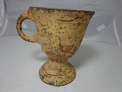 Rare Antique Cast Iron Footed Cup or Mortar - Very Old! 7.5 lbs; Late 1800's?
