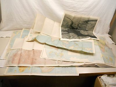 Vintage National Geographic Supplement Inserts, Lot Of 6 Maps, 1930's,