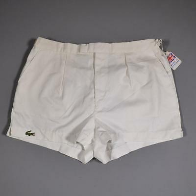 """LACOSTE 36"""" - 38"""" 80s Casuals Vintage Deadstock Tennis Running Shorts #D3494"""