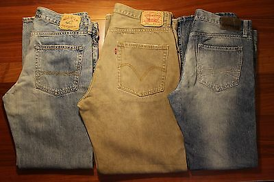 Hollister Hermosa and Levis 569 Men's Jeans Lot of 2 Size 36 x 32