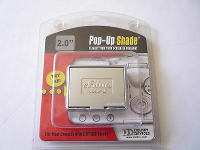 Delkin Pop Up Shade And Screen Protector For 2 '' Camera Screen