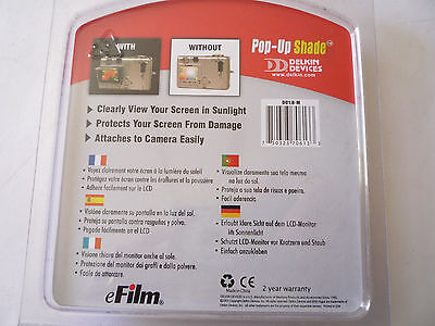 Delkin Pop Up Shade And Screen Protector For 1.8 '' Camera Screen