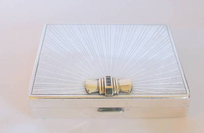 Vintage TIFFANY & CO. Sterling 14K Gold Cigarette Case With Sapphires
