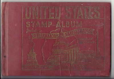 Vintage United States Stamp Album including All Famous Americans