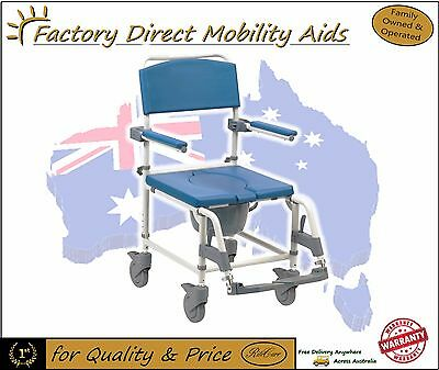 Aston Shower Commode on wheels / Over Toilet Aid Swing back arms