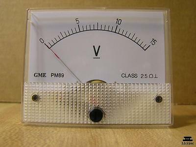 Analog Panel Meter DC 15 Volts GME PM89-D15V Series