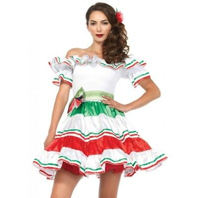 Sultry Senorita Mexican Womens Costume Party Fancy Dress Halloween Outfit