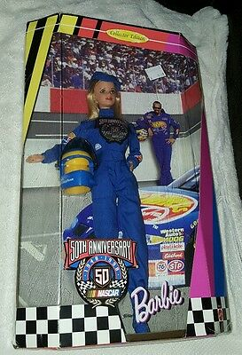 Brand New 1998 50th Anniversary Nascar Barbie Collector's Edition Mattel 20442