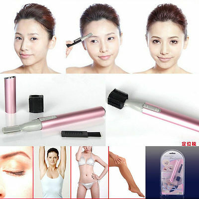 New Women's Electric Shaver Bikini Legs Eyebrow Trimmer Shaper Hair Remover Set