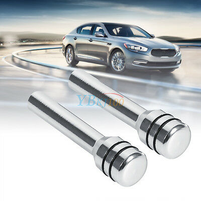 2 Pcs Silver Car Truck Aluminum Interior Door Lock Knob Pins Cover Universal AP