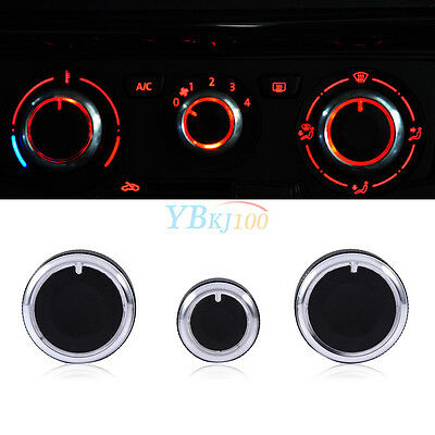 3* Air Condition A/C Switch Buttons Control Knob Cover For VW Golf MK4 Passat AP