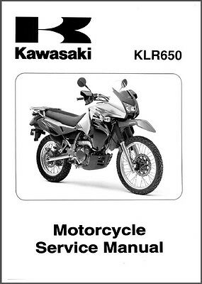 2008-2009-2010-2011-2012-2013-2014 Kawasaki KLR650 Service Manual on a CD