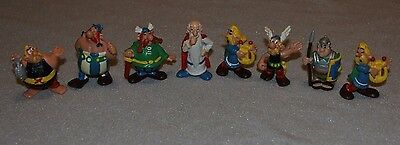 Lot of 8 Vintage Figurines ASTERIX and OBELIX - Bully - 1974 - DARGAUD (French)