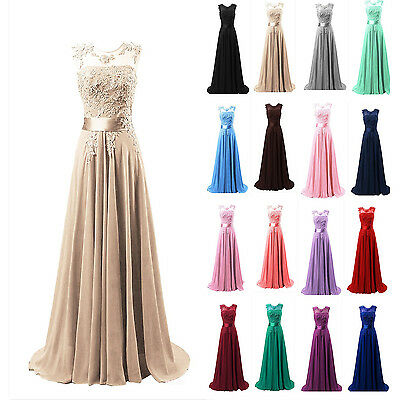 New Long Chiffon Bridesmaid Formal Ball Gown Party Evening Prom Maxi Dress EVE