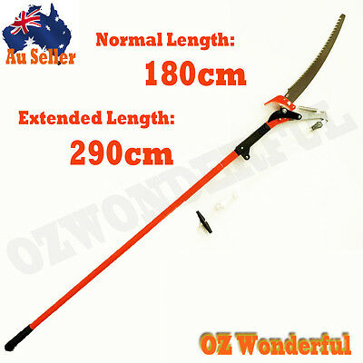 1.8-2.9m Telescopic Pole Pruner Saw Pruning Cutter Steel Garden Shear Extendable