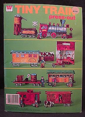 Paper Model Building Kit Tiny Train Press-Out Whitman Book Unused Unpunched 1975