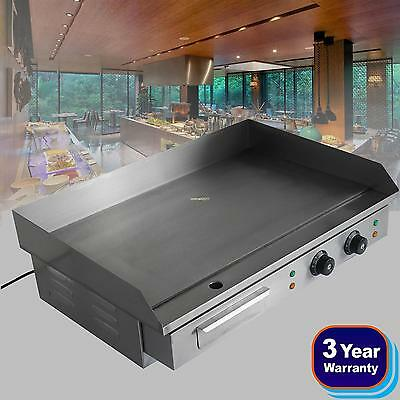 4400W Commercial Restaurant Electric Griddle Hot Plate Countertop Grill BBQ AU