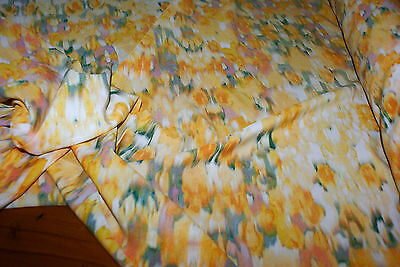 3.5m x 1.5m 'Abstract SUMMER Floral Print Georgette Fabric