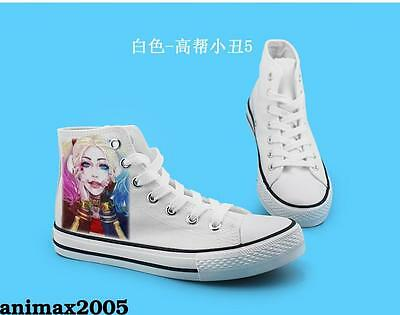 Suicide Squad Harley Quinn high canvas shoes Leisure Cool White Color