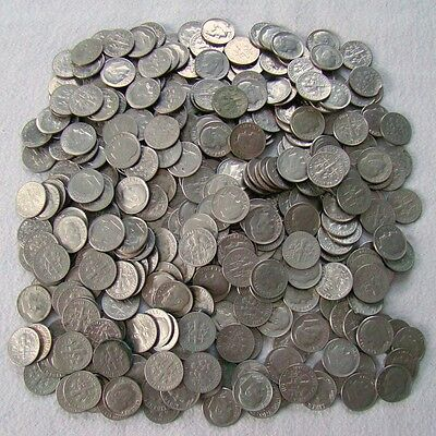 350 x 10 Cent - Dime - Dimes - Lot Umlaufmünzen - Art. 6453