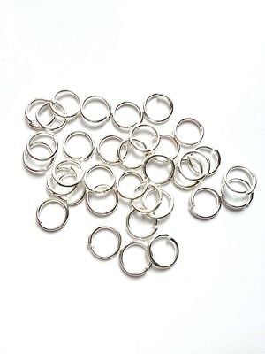 New! 1000 pcs 5mm Silver Plated Open Jump Rings Jewelry #75T Findings Ring Tools