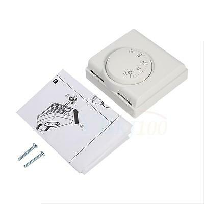 8.4x8.4x3.8cm Temperature Controller Thermostat With Switch For Home Office Room
