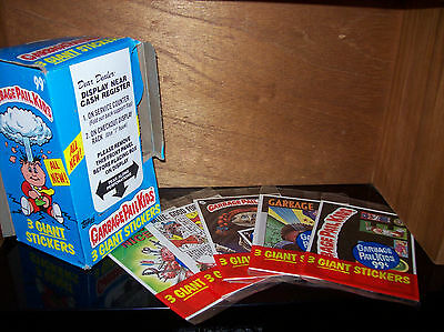 garbage pail kids Giant Stickers 5 packs 1986 Topps Plus Box! Full set 15 cards