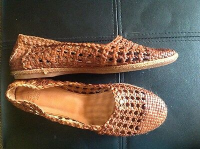 Bertie soft leather slip ons. Tan size 37 Shoes. Brand new.