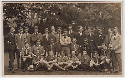POSTCARD - uncaptioned group of young men/boy scouts, poss. Canterbury link, RP