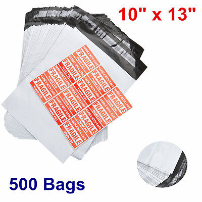 500 POLY MAILER ENVELOPE 10x13 Shipping Supplies Mailing Self Sealing Bag 2.5mil