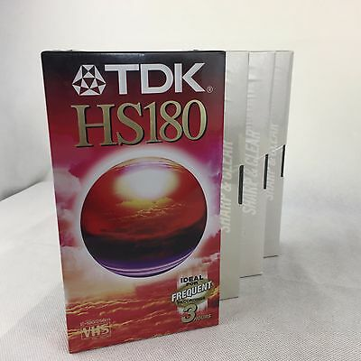 Blank VHS Video Cassette Tapes x 4 - TDK - 180min - New and Sealed