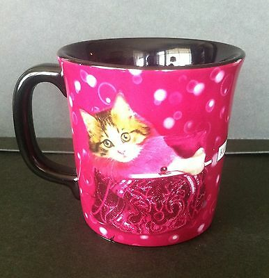 Keith Kimberlin  Mug  Cat in Pink Purse Handbag  Pink & Black  10oz