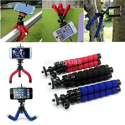 Mini Flexible Sponge Octopus Tripod Stand Mount Holder For Phone Gopro Camera