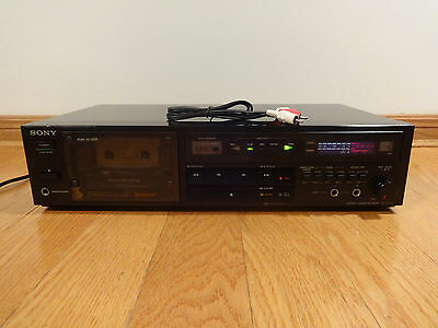 Sony TC-R302 Cassette Deck Recorder Auto-Reverse Japan 1986 TESTED Works Great!