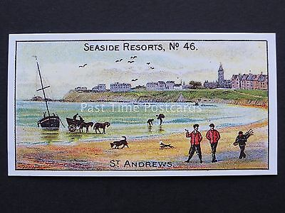 No.46 ST ANDREWS Seaside Resorts (Mixed Back) REPRINT of W.D.& H.O Wills 1899