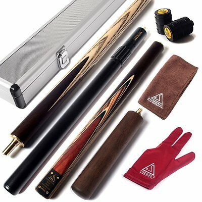 "CUESOUL 57"" 3/4 Jointed with Cue Extension and Aluminium Cue Case"