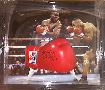 Signed Framed Frank Bruno Boxing Glove Tyson Fight